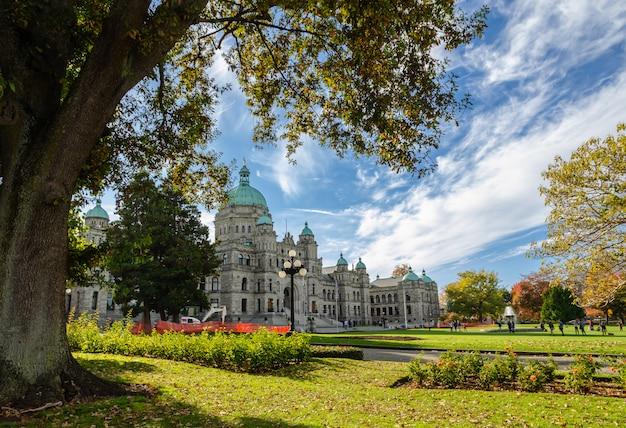 Britisch-kolumbien-parlamentsgebäude in victoria, kanada Premium Fotos