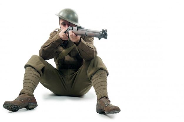 Britischer soldat des ersten weltkriegs von der somme 1916. Premium Fotos