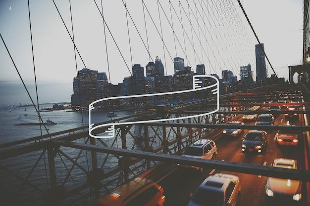 Brooklyn-brücke am abend Kostenlose Fotos