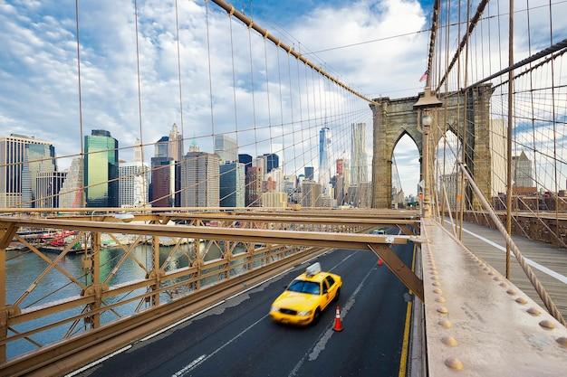 Brooklyn-brücke in new york city. Kostenlose Fotos