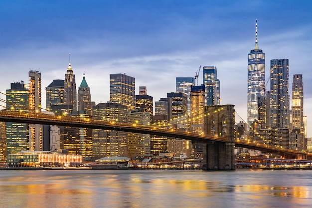 Brooklyn-brücke new york Premium Fotos