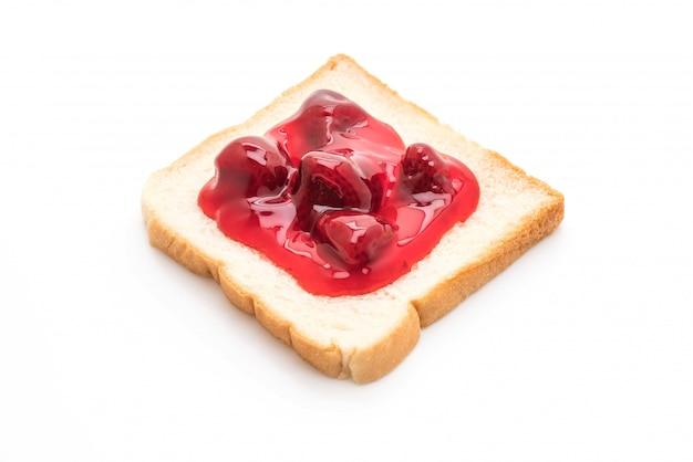 Brot mit erdbeermarmelade Premium Fotos