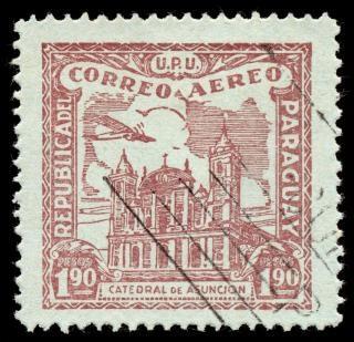 Brown asuncion cathedral flugpostmarke Kostenlose Fotos