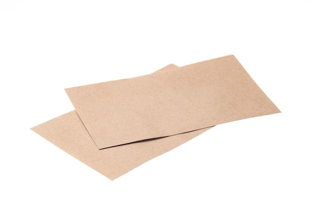 Brown-papierumschlag getrennt Premium Fotos