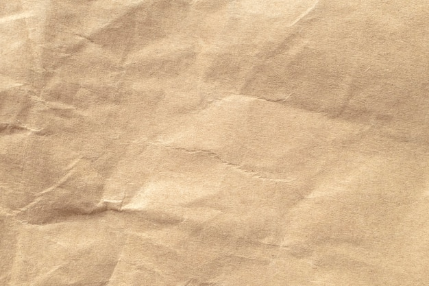 Brown zerknitterte papierbeschaffenheit für hintergründe. Premium Fotos