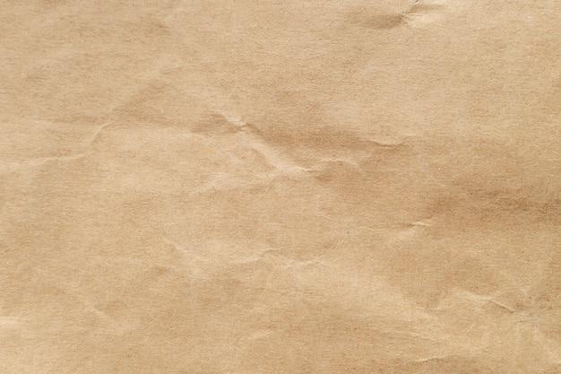 Brown zerknitterte papierbeschaffenheit für hintergrund. Premium Fotos