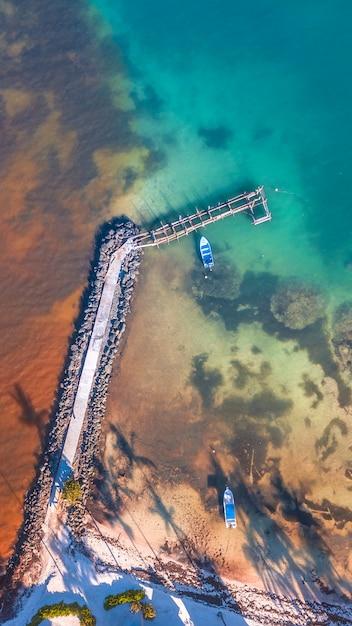Brücke in der karibik Premium Fotos