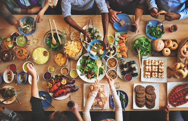Brunch-wahl-menge, die nahrungsmitteloptionen essen konzept isst Premium Fotos