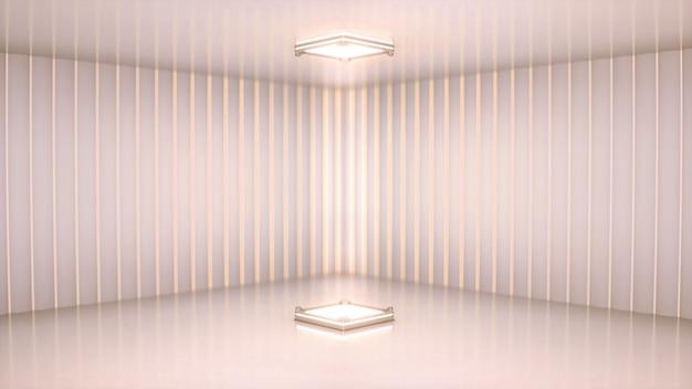 Bühne mit weißem scheinwerfer Premium Fotos