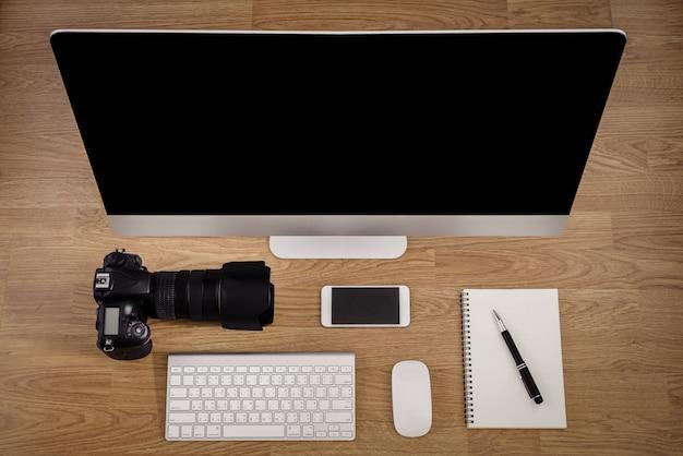 Büroausstattung, schreibtisch Premium Fotos