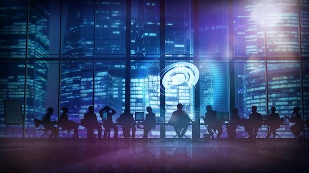 Büropersonal und deren leiter. abbildung 3d Premium Fotos
