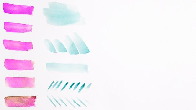 Bunte aquarellpinselanschläge Kostenlose Fotos
