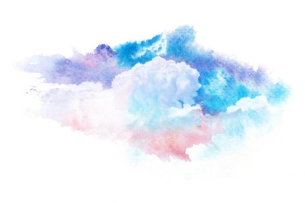 Bunte aquarellwolken Premium Fotos