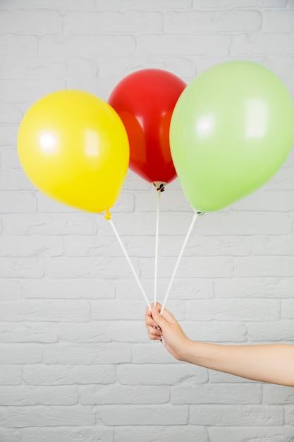 Bunte ballone für geburtstagskonzept Kostenlose Fotos