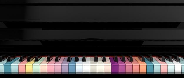 Bunte klaviertastatur Premium Fotos
