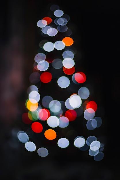 Bunte Lichter auf Weihnachten drei | Download der kostenlosen Fotos
