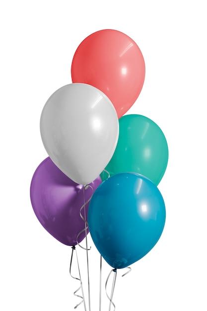 Bunte luftballons für eine geburtstagsfeier Premium Fotos