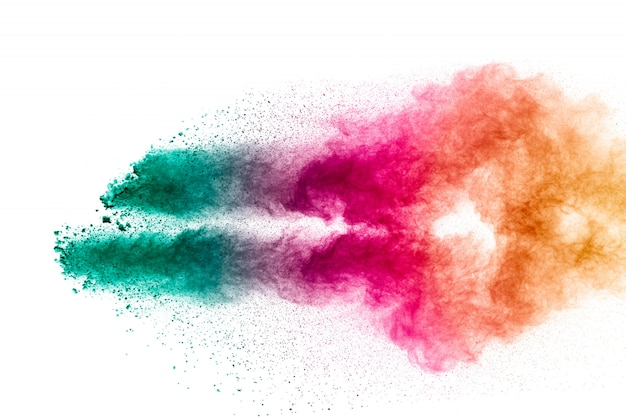 Bunte pastellpuderexplosion. Premium Fotos