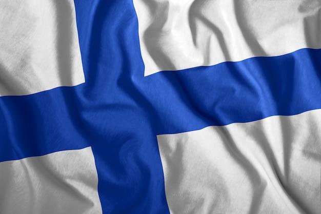 Bunte staatsflagge von finnland Premium Fotos