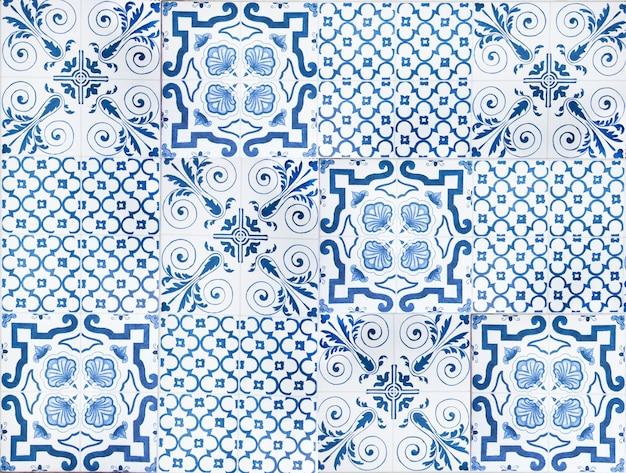 Bunte weinlesekeramikfliesen-wanddekoration türkischer keramikfliesenwandhintergrund Premium Fotos