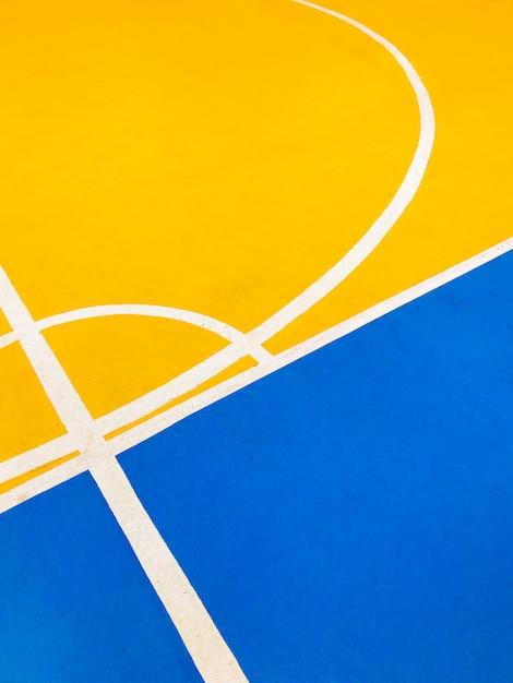 Bunter basketballplatzboden Premium Fotos
