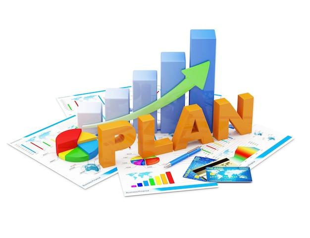 Business graph kreisdiagramm und finanzberichte Premium Fotos