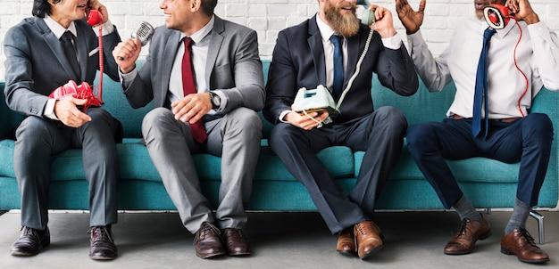 Business workers corporate sitzendes konzept Premium Fotos