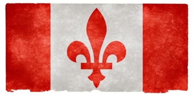 Canada fleur de lys grunge flag Kostenlose Fotos
