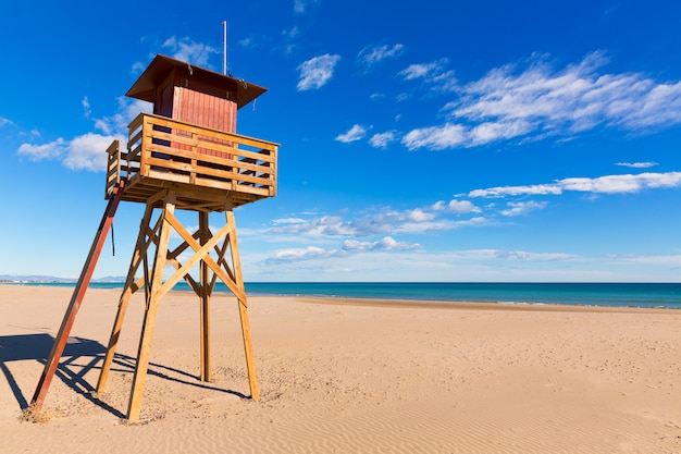 Canet de berenguer strand in valencia in spanien Premium Fotos