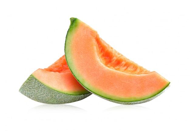 Cantaloupe melone isoliert Premium Fotos