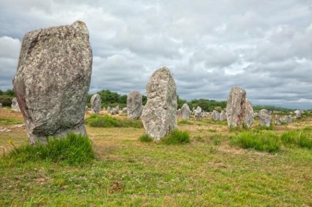 Carnac steinen hdr Kostenlose Fotos