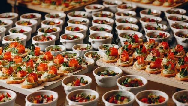 Catering essen für partys Premium Fotos