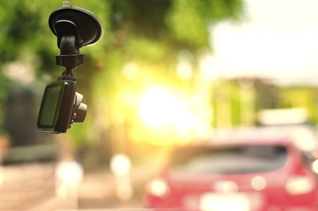 Cctv-autokamera zur sicherheit beim verkehrsunfall Premium Fotos