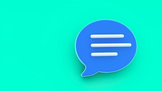 Chat-blasensymbol. konzept von social media nachrichten, sms, kommentaren. Premium Fotos