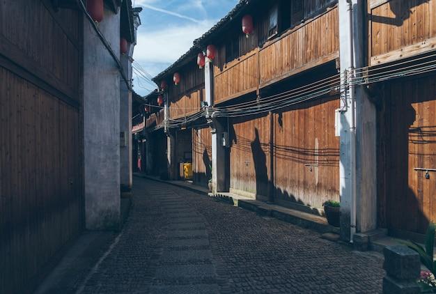 China alten huizhou architektur und stein straße Premium Fotos