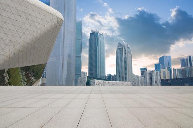 China guangzhou city plaza, bebaute innenstadt. Premium Fotos