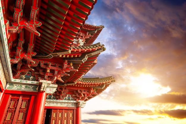 Chinesische klassische architektur Premium Fotos