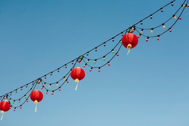 Chinesische laternen im himmel Kostenlose Fotos