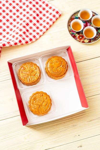 Chinesischer mondkuchen für chinesisches mittleres herbstfestival Premium Fotos