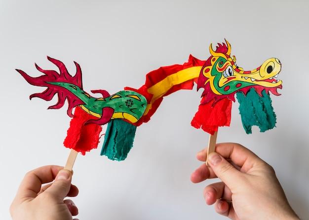 Chinesisches konzept des neuen jahres mit drachen Kostenlose Fotos