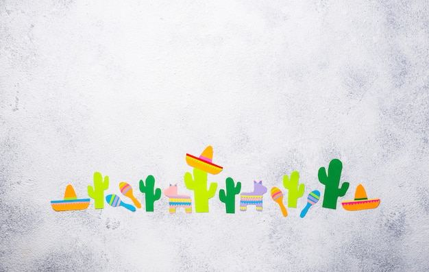 Cinco de mayo, mexikanisches fiestatageskonzept. Premium Fotos