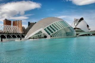 Ciudad de las artes y las ciencias, blau Kostenlose Fotos