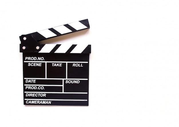 Clapper board isoliert Premium Fotos