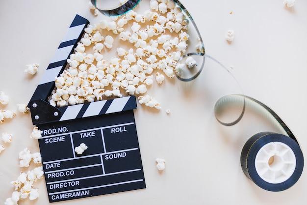 Clapperboard mit filmvorrat Kostenlose Fotos
