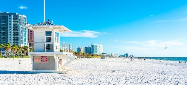 Clearwater strand mit schönem weißem sand in florida usa Premium Fotos