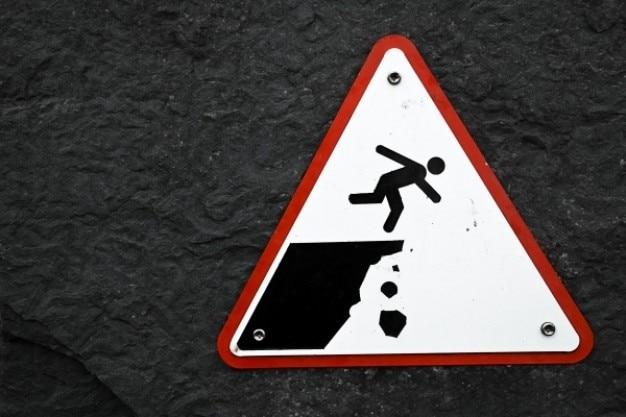 Cliff drop warnzeichen Kostenlose Fotos
