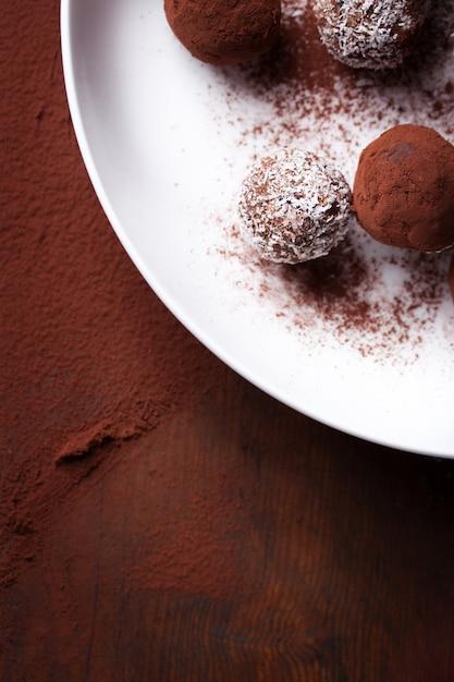 Close-up der köstlichen Schokolade Kostenlose Fotos