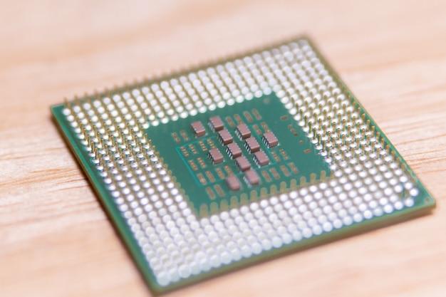 Closeup-cpu oder zentraleinheit von der hauptplatine, mikroprozessoreinheit der computerhardware Premium Fotos