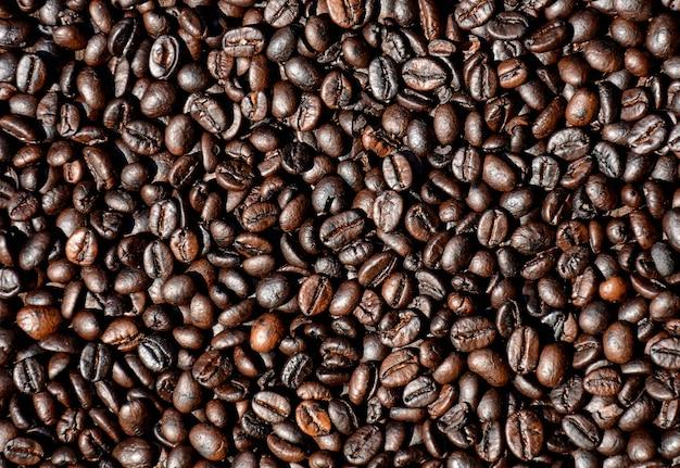 Closeup kaffeebohnen Premium Fotos