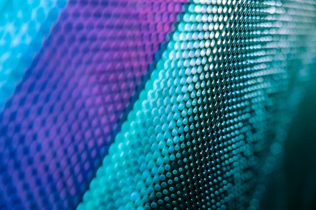 Closeup led unscharfer bildschirm. led-weichzeichnerhintergrund. abstrakter hintergrund ideal für design. Premium Fotos
